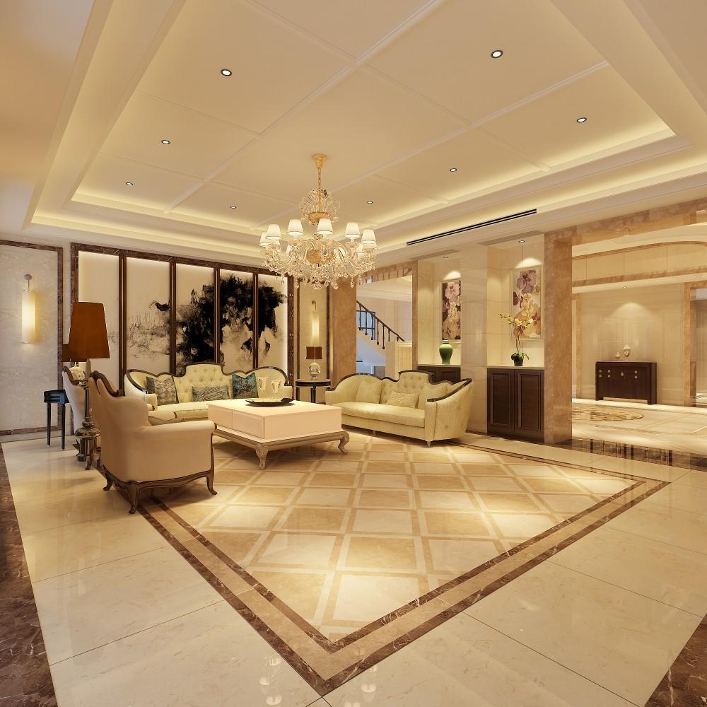 别墅设计效果图-自建别墅设计图-莆田别墅设计-别墅客厅设计